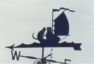 Owl and Pussy Cat weathervane
