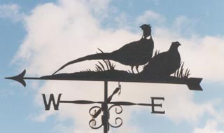 Pheasants (Pair) weathervane