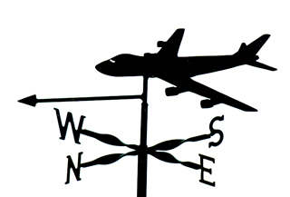 Boeing 747 weather vane