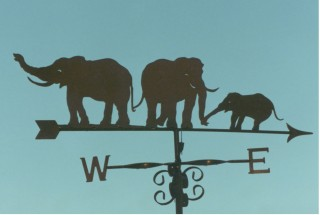 Elephants weather vane