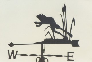 Frog weather vane