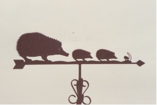 Hedgehogs weather vane
