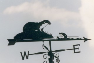 Otters weather vane