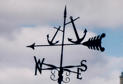 Anchors weathervane