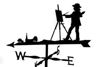 Artist weather vane