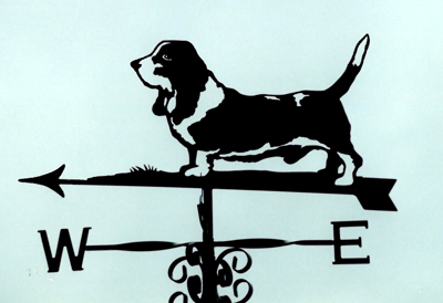 Basset Hound with markings weather vane