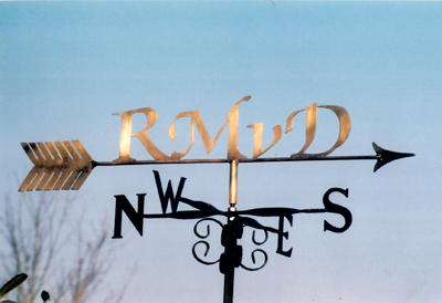 Brass Letters weathervane