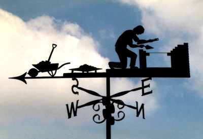 Brick Layer weather vane