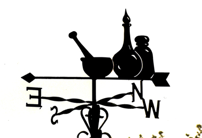 Chemist weather vane