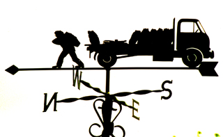 Coalman weather vane