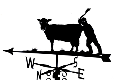 Cow with Farmer weathervane