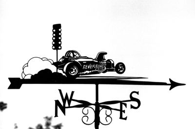 Dragster weather vane
