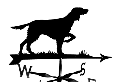 English Setter weather vane