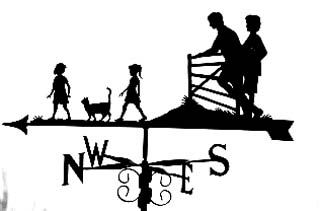 Family with Gate weather vane