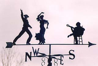 Flamenco weather vane