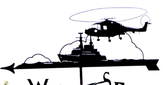 Lynx with Frigate weather vane