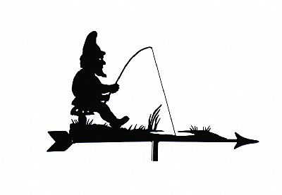 Gnome Fishing weather vane