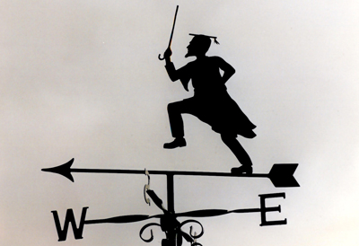 Headmaster weather vane