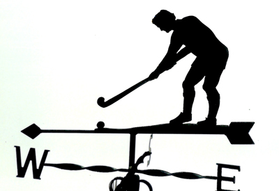 Hockey weather vane