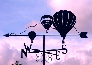 Hot Air Balloons weather vane