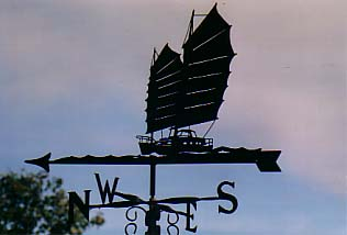 Junk Rigged weather vane