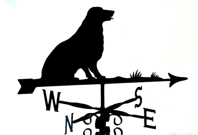 Lab Sitting weather vane