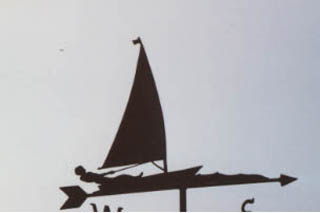 Laser weather vane