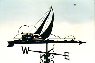 Leaning Over weather vane