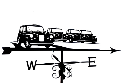 London Cabs weather vane