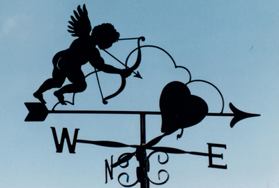 Love weathervane
