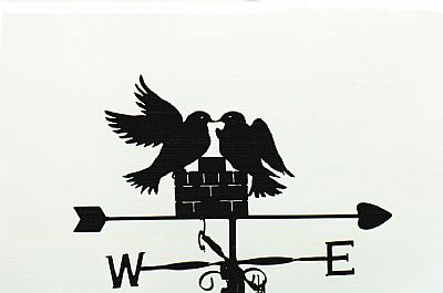 Lovebirds weathervane