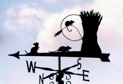Mice and Wheat weathervane