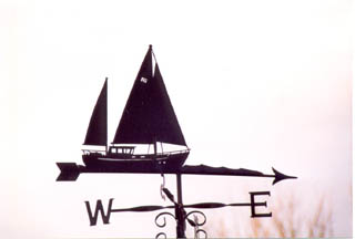 Motor Sailer weather vane