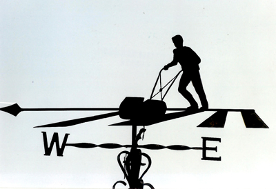 Mowing Lawn weathervane