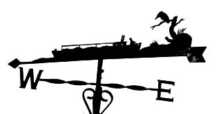 Narrow Boat with Kingfisher weather vane