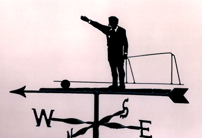 Referee weather vane