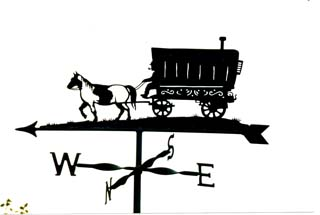 Romany Horse and Coach weather vane