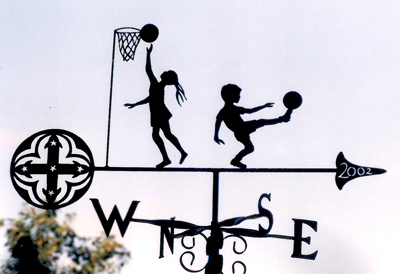 School sports with Emblem weather vane