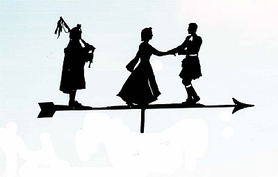 Scottish Dancers weather vane