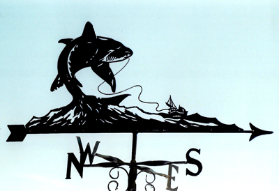 Shark Fishing weathervane