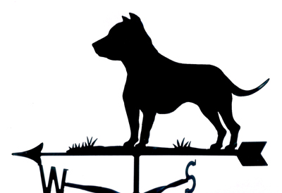 Staffordshire Bull Terrier weather vane