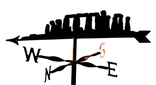 Stonehenge weather vane