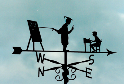 Teaching Pupil weather vane