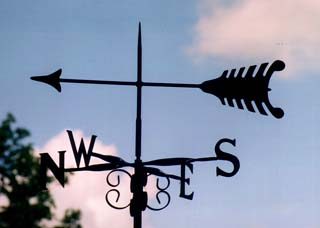 Arrow 2 weathervane