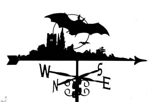 Bat weather vane
