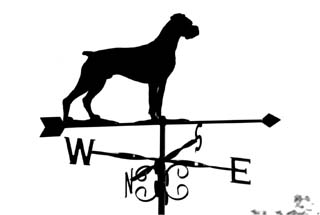 Boxer weather vane