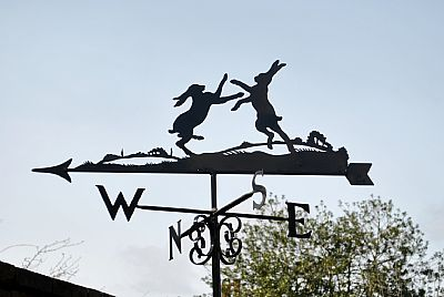 Boxing Hares weather vane