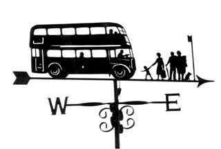 Bus stop weather vane