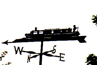 Canal Barge weathervane