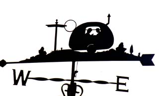 Caravan weather vane